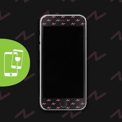 Pink Lightning - Black Screen Protector - Tempered Glass