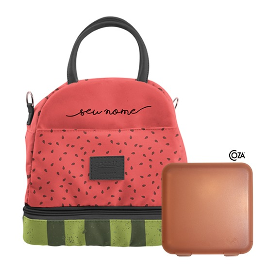 Lancheira Térmica Mix Personalizada - Watermelon Manuscrita