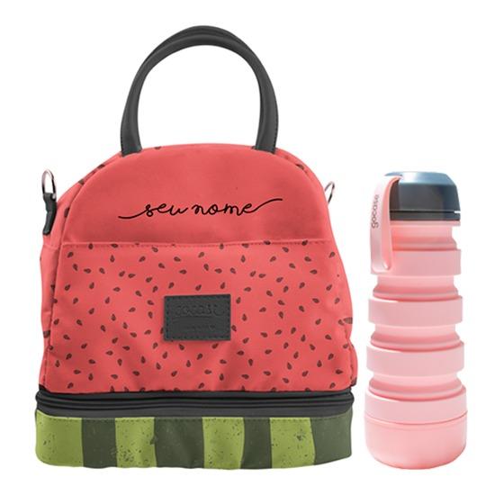Kit Watermelon (Lancheira Térmica + Garrafa Retrátil Pop)