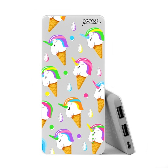 Carregador Portátil Power Bank Slim (5000mAh) - Unicórnio Ice Cream