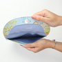 Pochete mapa mundi aberta 1x1