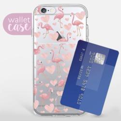 Flamingos - Wallet  Phone Case