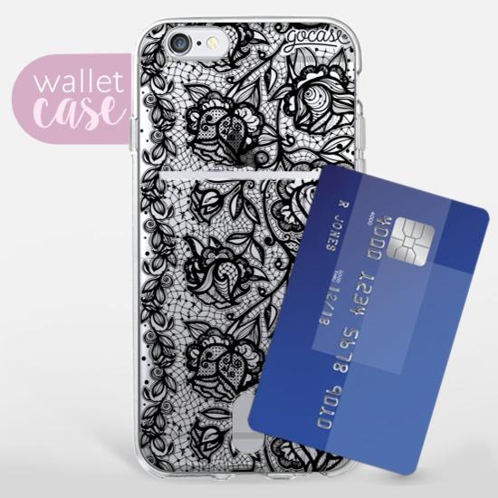 Flower Lace Black - Wallet