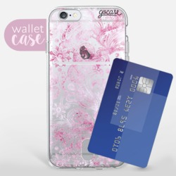Pink Watercolor - Wallet  Phone Case