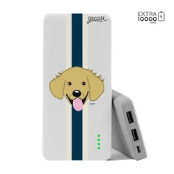 Carregador Portátil Power Bank (10000mAh) - Golden Retriever