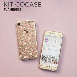 Kit Flamingos (Película Customizada Branca + Capinha)