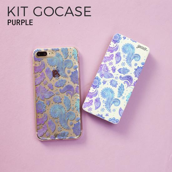 Kit Gocase Purple (Capinha + Carregador Portátil de 10000mAh)