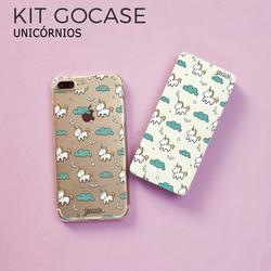 Kit Gocase Unicórnios (Capinha + Carregador Portátil de 10000mAh)