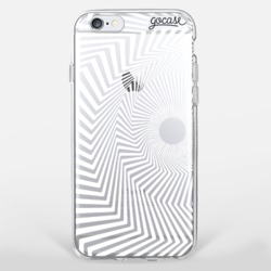 White Spiral Phone Case