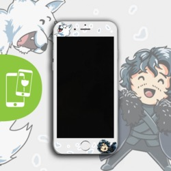 Jon & Ghost White Screen Protector - Tempered Glass