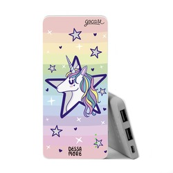 Power Bank Slim Portable Charger (5000mAh) - Star Unicorn