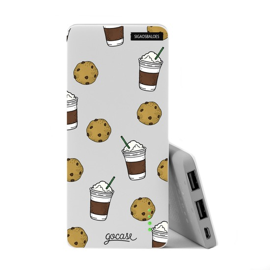 Carregador Portátil Power Bank Slim (5000mAh) - Cookies