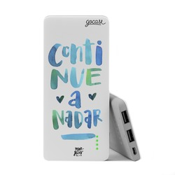 Carregador Portátil Power Bank Slim (5000mAh) - Continue a nadar