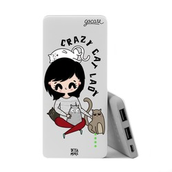 Power Bank Slim Portable Charger (5000mAh) - Crazy Cat Lady