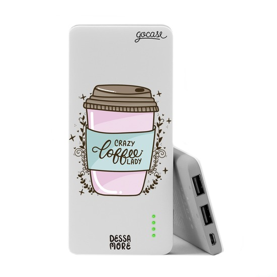 Carregador Portátil Power Bank Slim (5000mAh) - Crazy Coffee