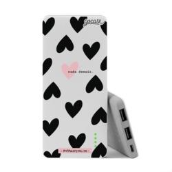 Power Bank Slim Portable Charger (5000mAh) - Black Hearts
