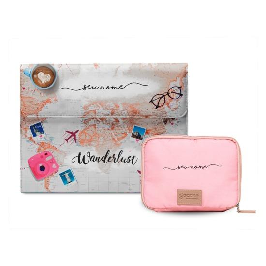 Kit Capa para Notebook World Trip + Porta Acessórios World Trip