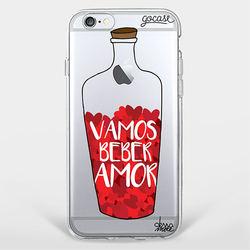 Capinha para celular Vamos Beber Amor