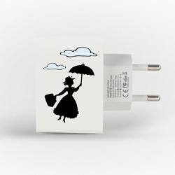 Carregador Personalizado iPhone/Android Duplo USB de Parede Gocase - Mary Poppins