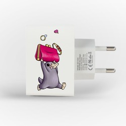 Customized Dual Usb Wall Charger for iPhone and Android - Niffler