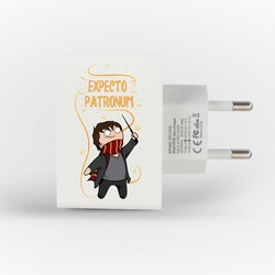 Customized Dual Usb Wall Charger for iPhone and Android - Patronum