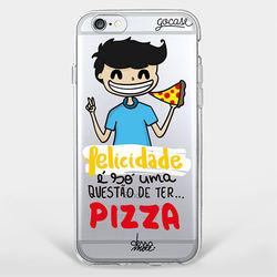 Capinha para celular Pizza é felicidade